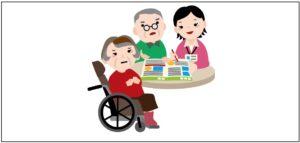 介護認定の認定調査を表す画像
