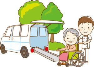 高齢者を車で送迎