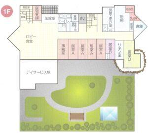 ウェルコート霧島1階の図面